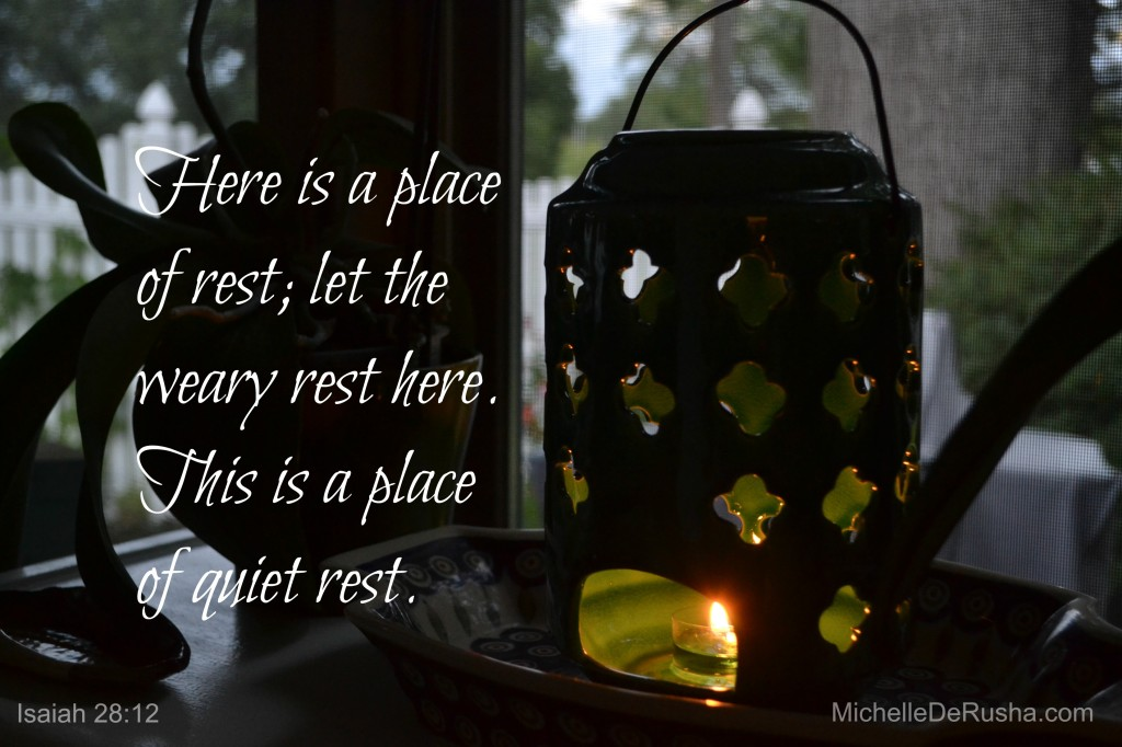 candle with verse
