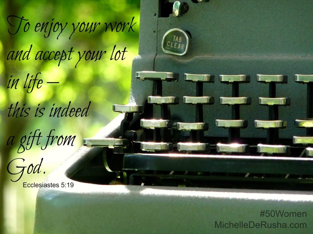 typewriter with verse